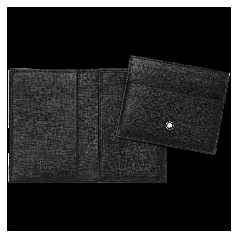 Montblanc leather business card holder set meisterstuck 116852 business card holder set meisterstuck reheart Images